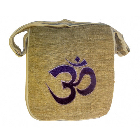 Embroidered OM 100% Hemp Bags