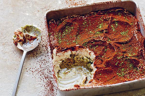 matcha, chocolate & ginger tiramisu recipe
