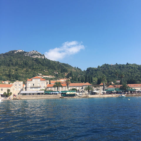 VIEW OF DUBROVNIK FROM BOAT