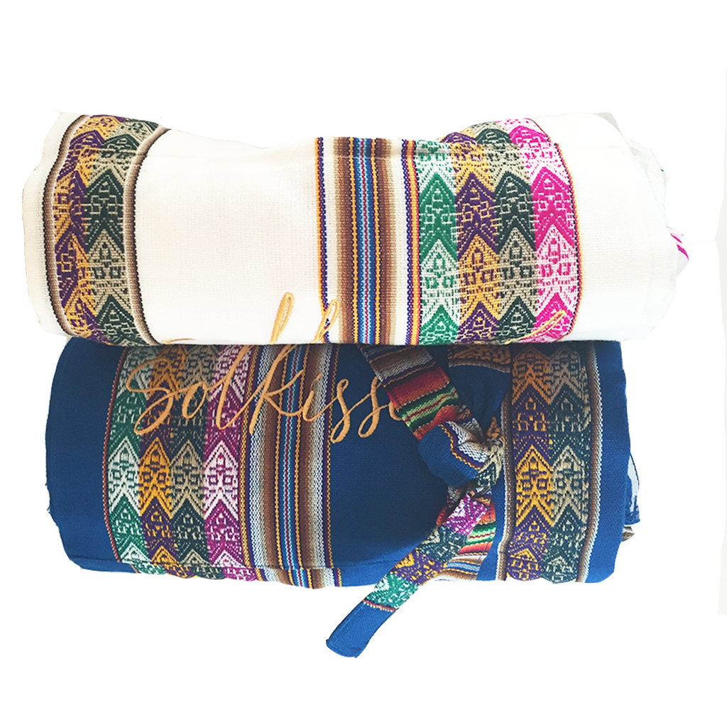 Solkissed Peru Beach Blanket in Blue - Lido West