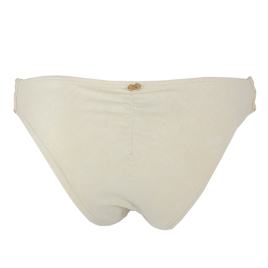 Pily Q Keshi Pearl Ruched Bottom- Teeny in Pearl - Lido West - 2