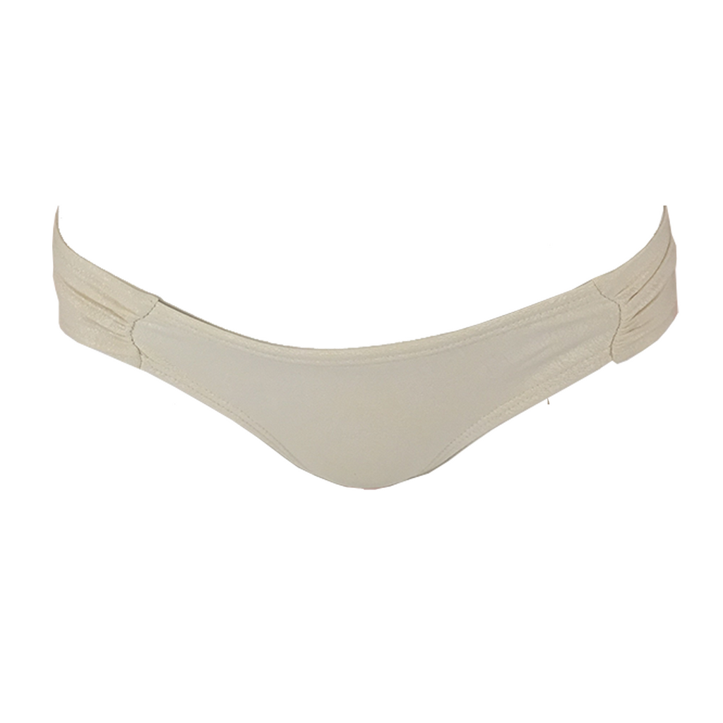 Pily Q Keshi Pearl Ruched Bottom- Teeny in Pearl - Lido West - 1