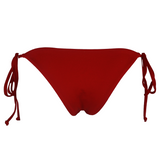 Frankie's Bikinis Brie Bottom in Red - Lido West