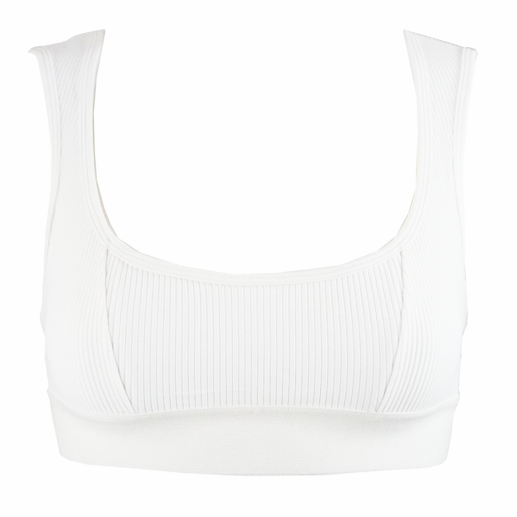 Frankie's Bikinis Drew Top in White - Lido West