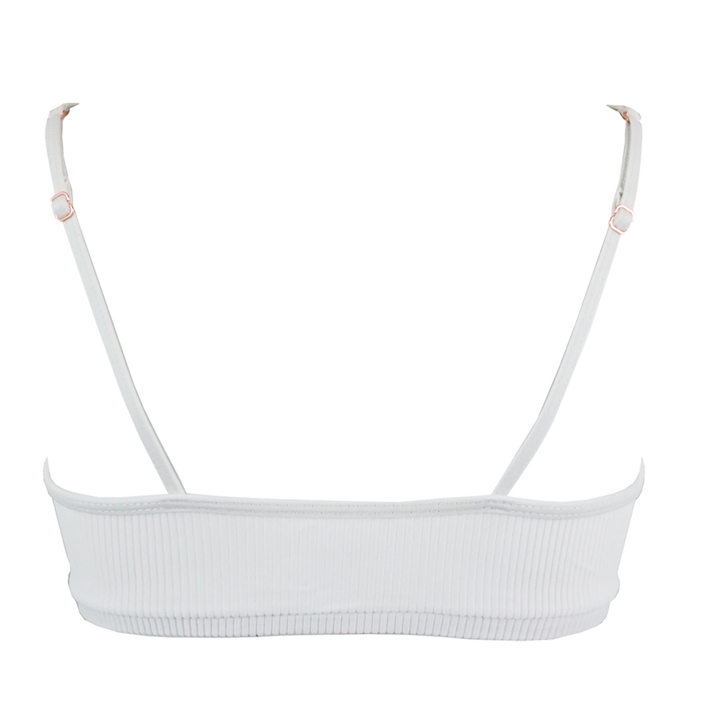 Frankie's Bikinis Greer Top in White - Lido West