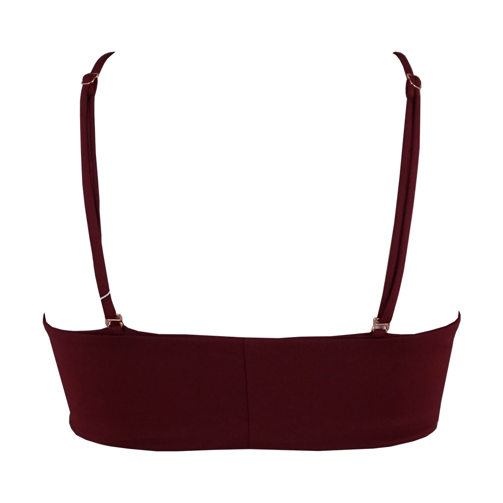Frankie's Bikinis Joy Top in Merlot - Lido West