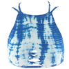 Frankie's Bikinis Marley 2 Top in Blue Crush Tie Dye - Lido West