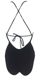 Frankie's Bikinis Poppy One Piece Classic in Black - Lido West