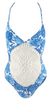 Frankie's Bikinis Poppy One Piece in Blue Dahlia - Lido West
