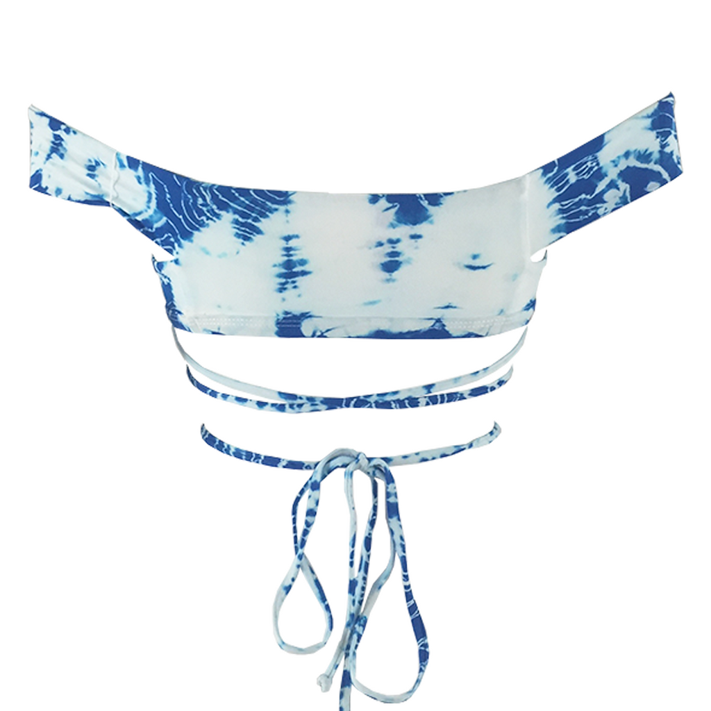Frankie's Bikinis Shiloh Top in Blue Crush Tie Dye - Lido West