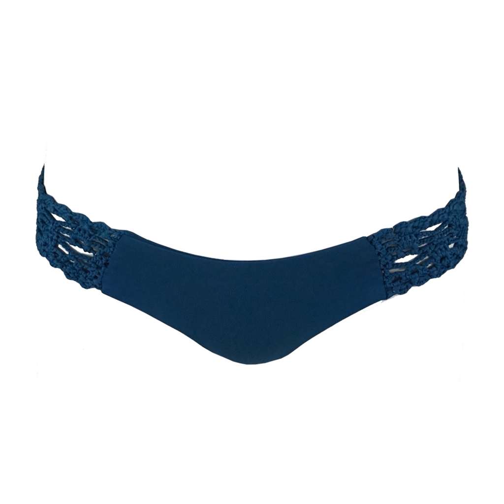 Frankie's Bikinis Tanner Bottom in Deep Sea Blue - Lido West