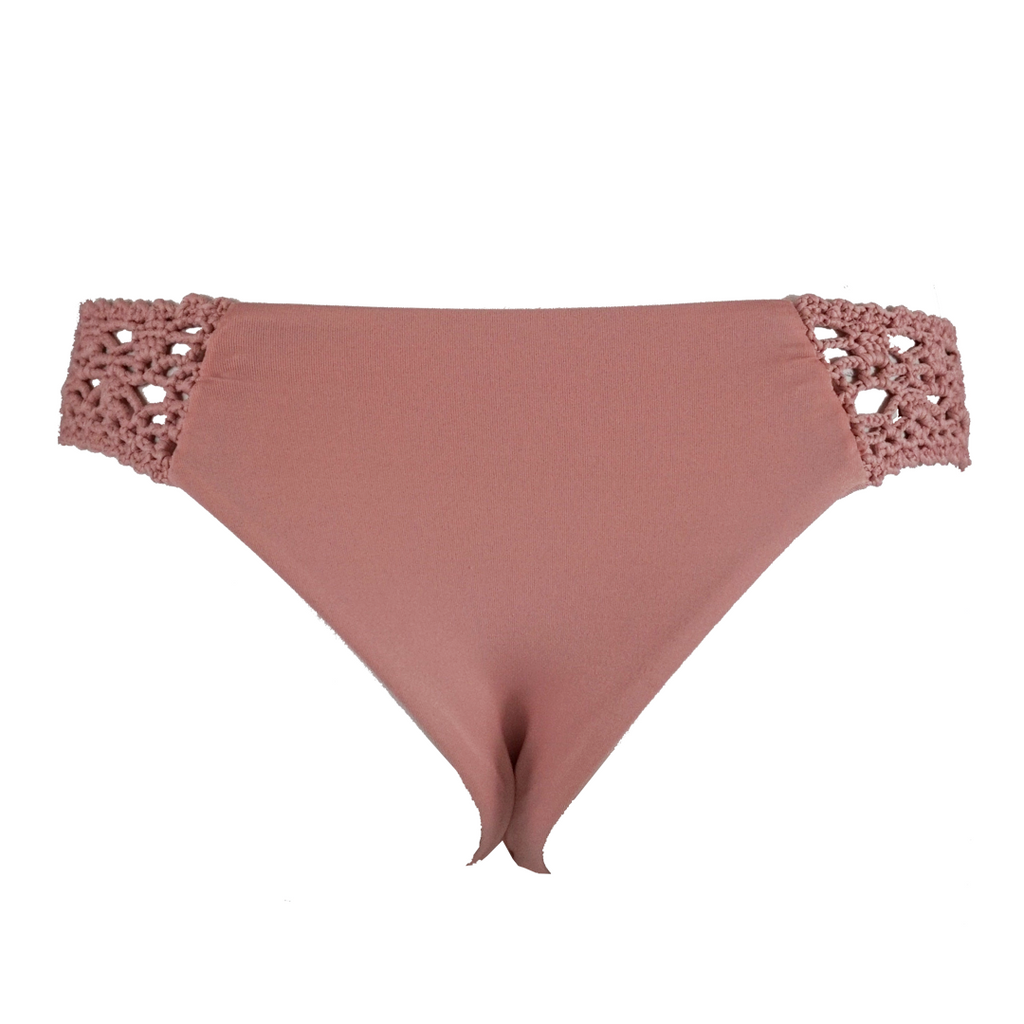 Frankie's Bikinis Tanner Bottom in Vintage Rose - Lido West