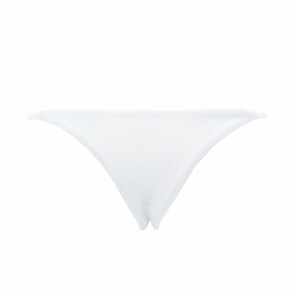Frankie's Bikinis Willa Bottom in White - Lido West