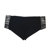 Indah Fallen Macrame Bottom in Black - Lido West