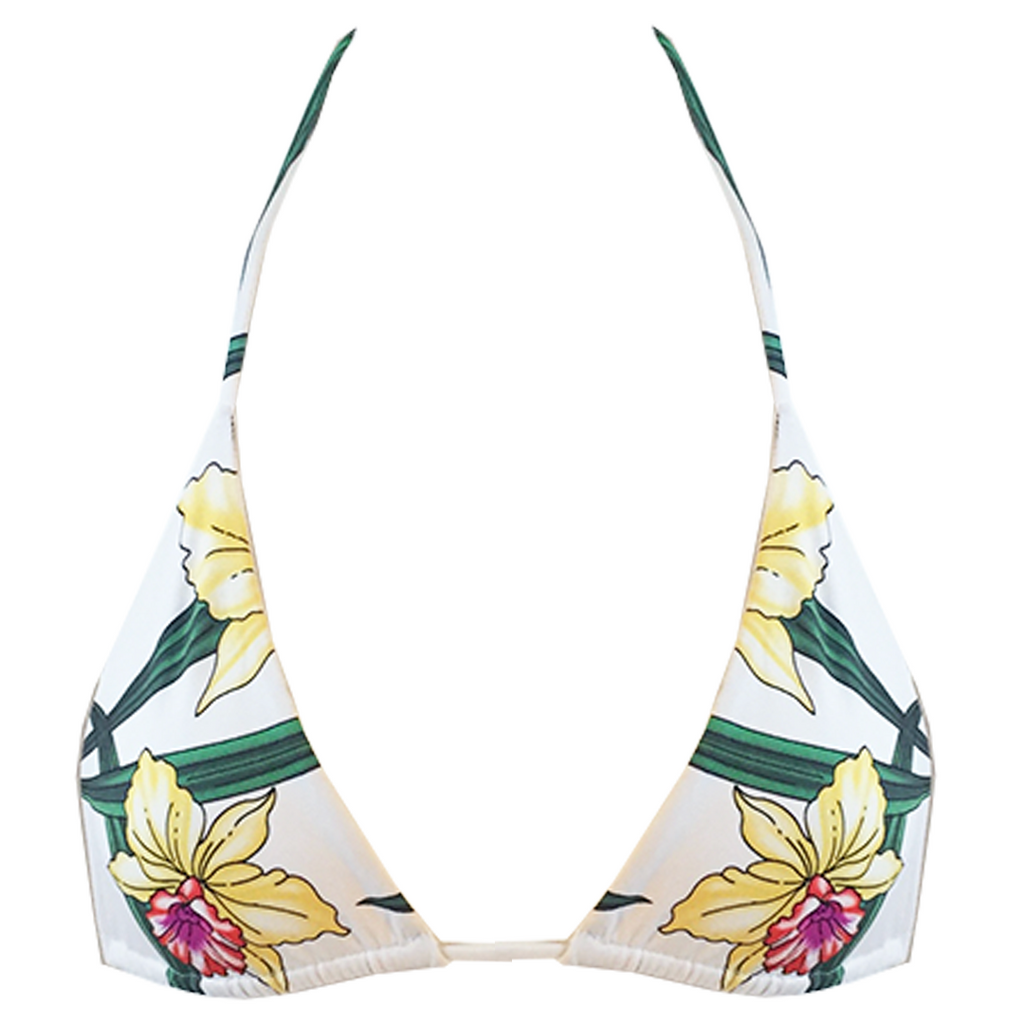 Indah Tom Triangle Top in Lush Lily - Lido West
