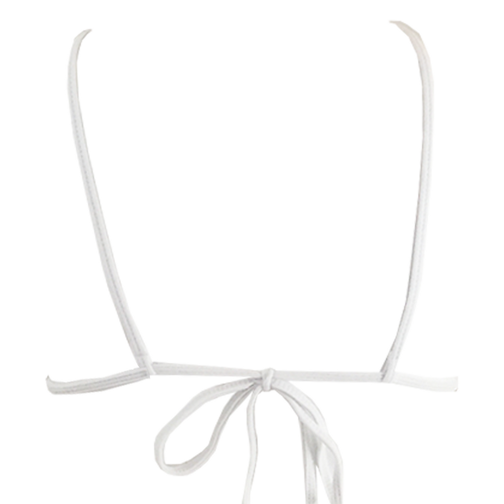 Indah Con Lace Trim Top in White - Lido West