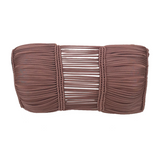 Indah Sian Macrame Bandeau Top in Woodrose - Lido West