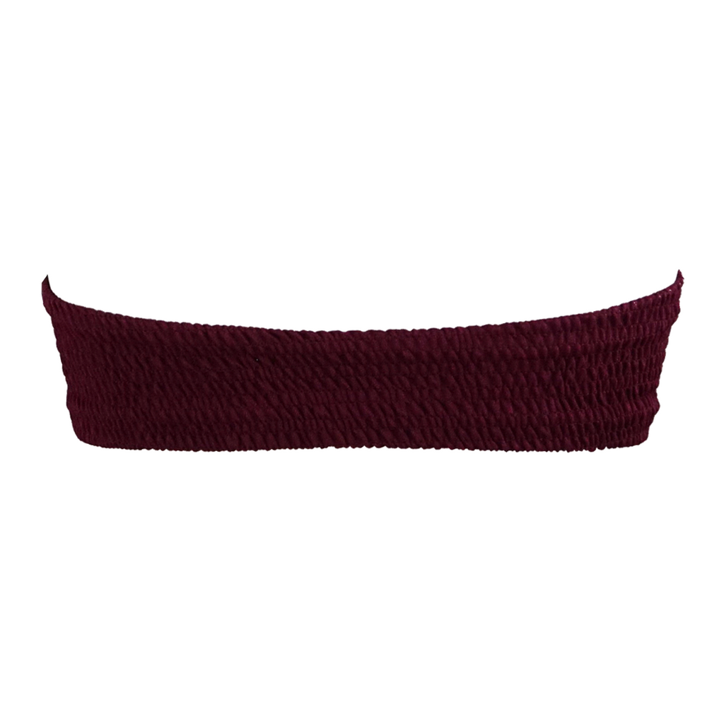 Indah Hall Bandeau Top in Bordeaux - Lido West