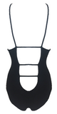 Indah Moonshine Rib One Piece in Black - Lido West