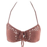 Indah Riot Crochet Top in Dusty Rose - Lido West