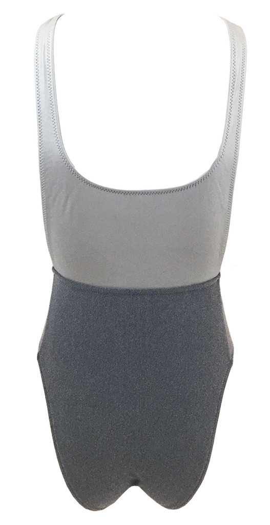 Kore Swim Nyx Maillot in Static Gray - Lido West