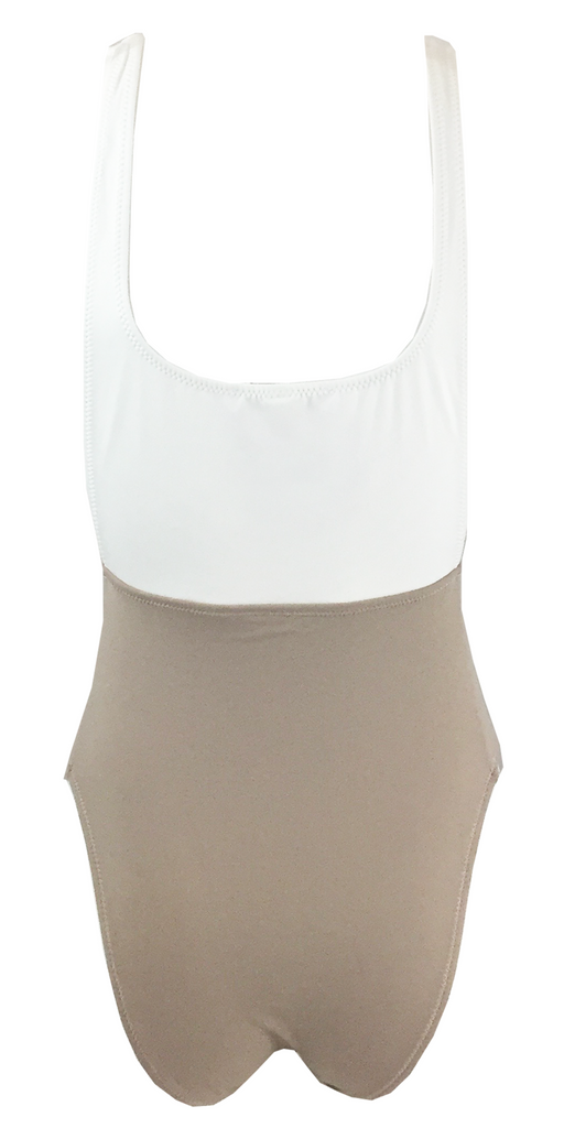 Kore Swim Nyx Maillot in Stone - Lido West - 2