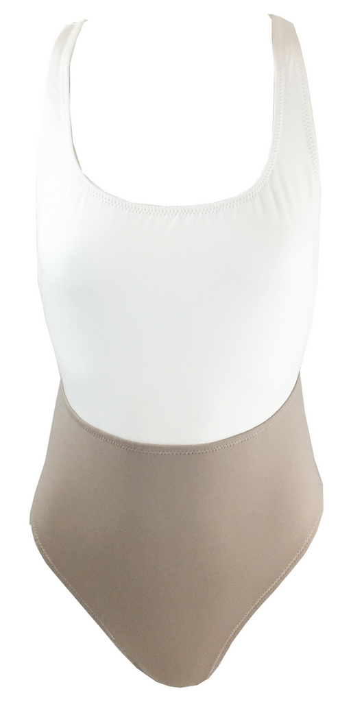 Kore Swim Nyx Maillot in Stone - Lido West - 1