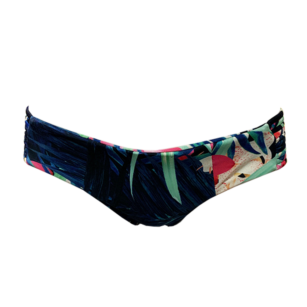 Stone Fox Swim Capri Bottom in Aloha Daze - Lido West