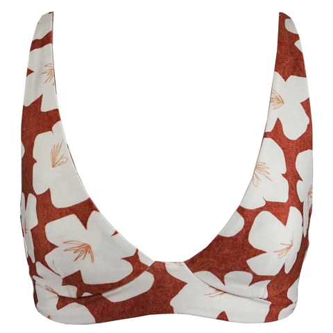 Frankie's Bikinis Marina Top in Hawaiian Mist