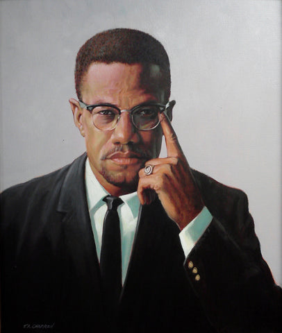 Malcolm X drawing
