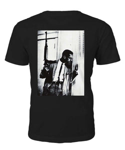 "Malcolm X ""By Any Means Necessary"" T-shirt - Black Legacy"