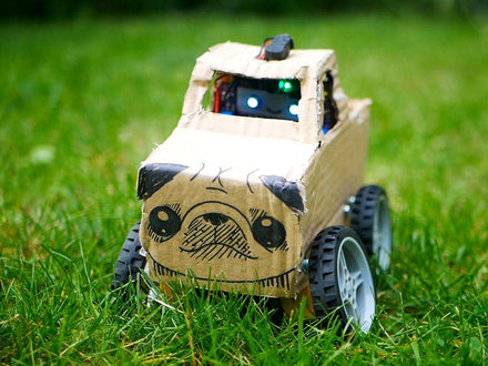 DIY Cardboard Pug RC Monster Truck