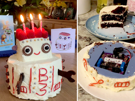 A robotic robot birthday cake (that actually moves)