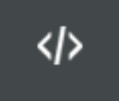 White symbol on a dark grey background indicating to switch between two values or programs in the Espruino Web IDE