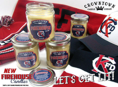 Firehouse KCFD 9oz Candle