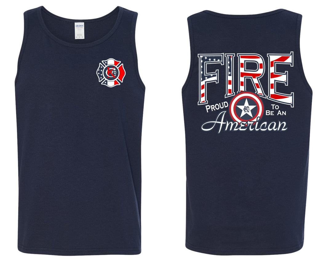 KCFD - Proud to be an American - Tank Top