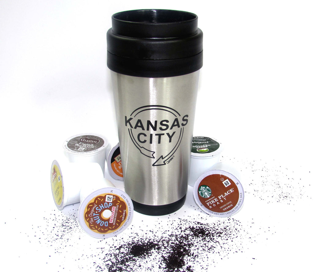 Kansas City Sign Stainless Steel 16oz Travel Mug