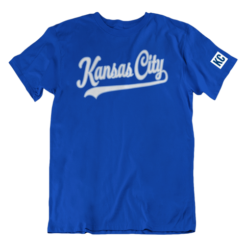 Kansas City Script - BLUE