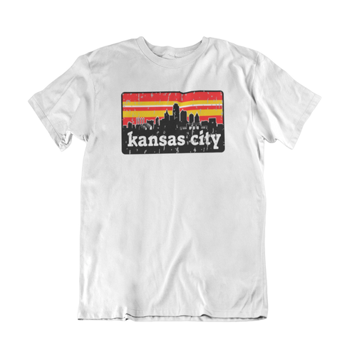KC Stripe Skyline RED & GOLD