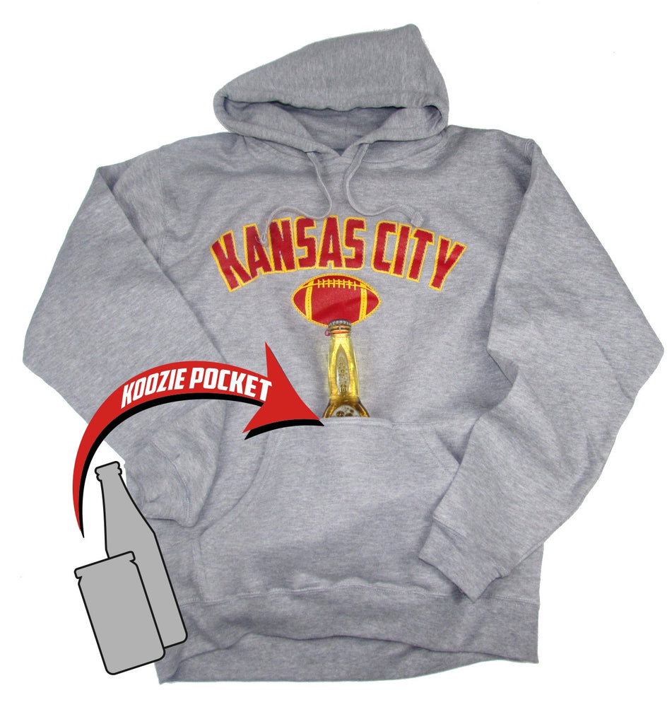Kansas City Bev. Pocket Hoodie Grey
