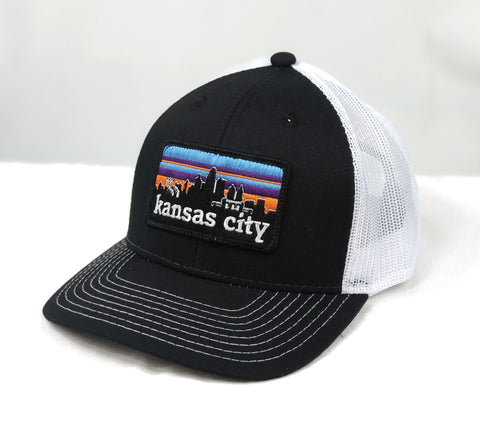 KC SKYLINE trucker hat - BLACK