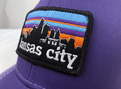 KC SKYLINE trucker hat - BABY BLUE