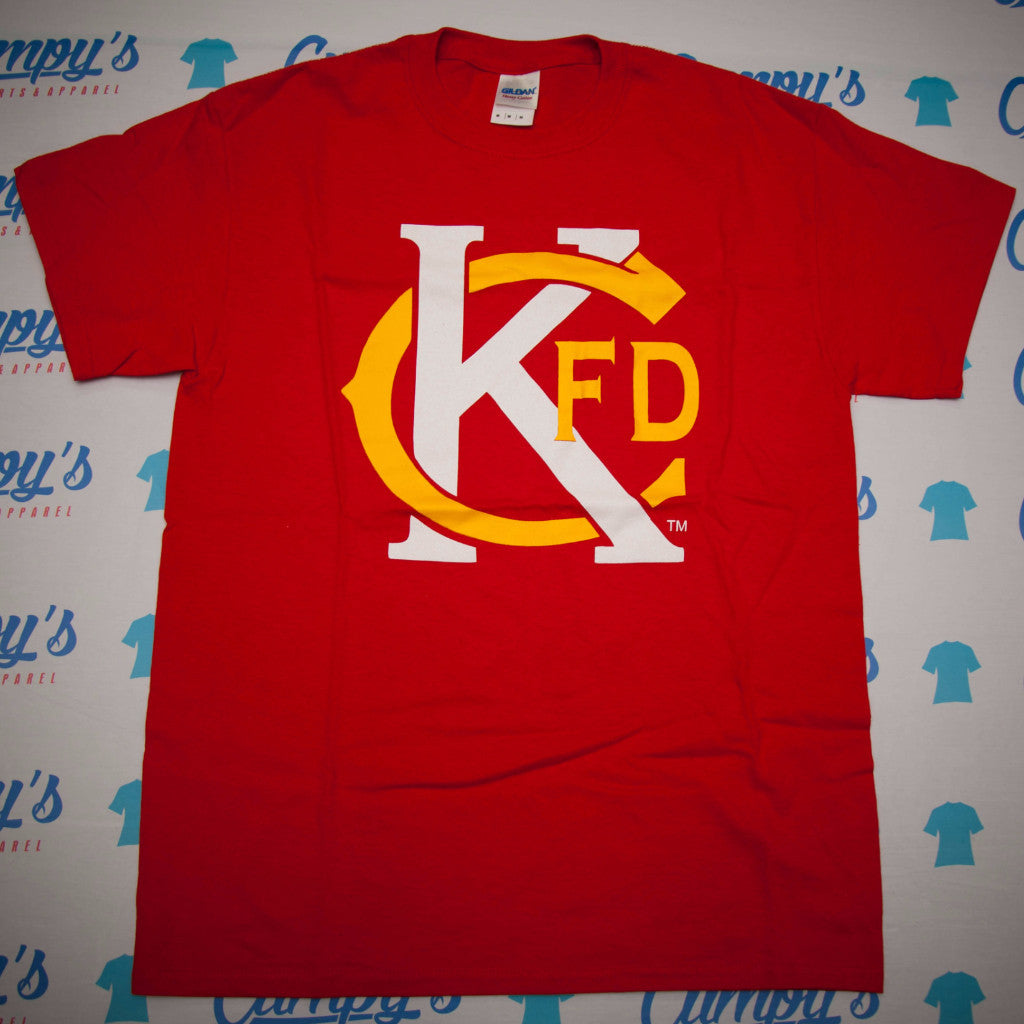 KCFD Tribute Shirts in Kansas City Chiefs colors