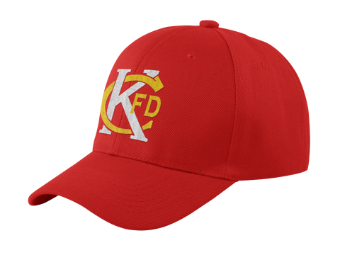 *KCFD Tribute Hat - Red and Gold
