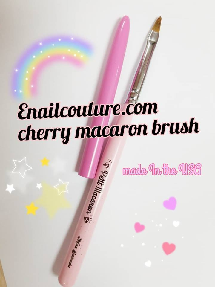 Cherry Petit Macaroon - (gel brush sharp oval size 4)