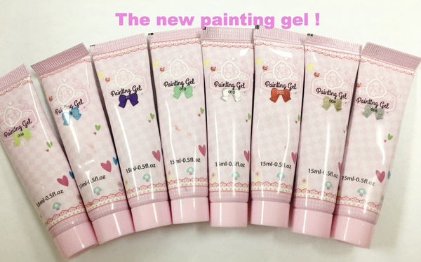 Painting Gels~!  (Colors Painting Gel Nail Polish Set Soak Off Nail Art Color Gel For Drawing Manicure DIY Design)