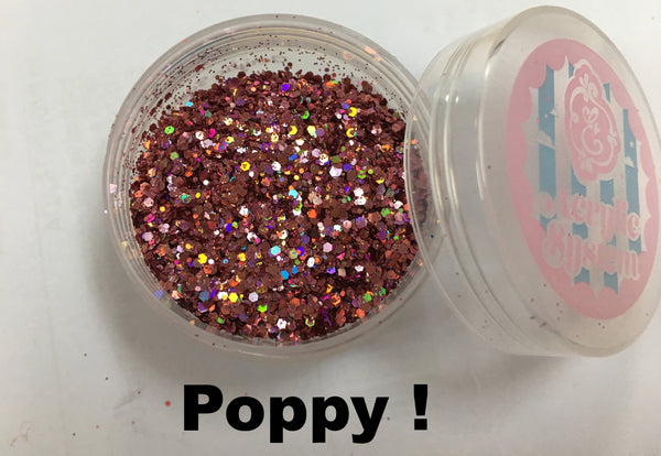 Poppy, pure glitter mix!