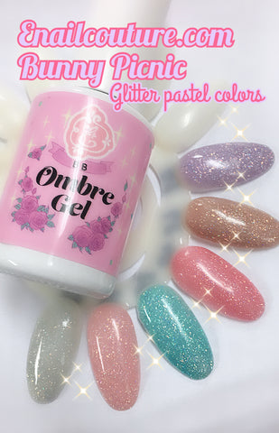 Bunny Picnic, sparkling pastel gels!~ bb ombre