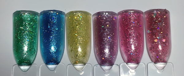 Sweet Surprise Gel Colors - Sparkly water color effect ~!