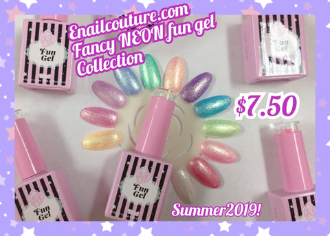 Fancy NEON, fun gel summer collection 2019 !~